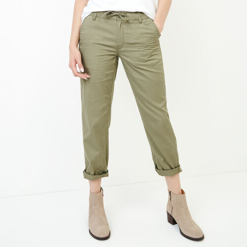 Roots-Women Our Favourite New Arrivals-Bedford Slim Chino-Mermaid-A