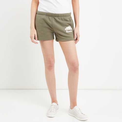Roots-Women Bottoms-Original Sweatshort-Dusty Olive-A