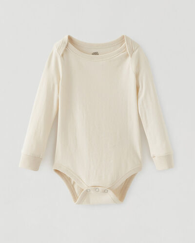Roots-Kids Baby-Roots Baby's First Bodysuit-Natural-A