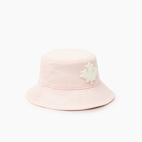 Roots-Kids Accessories-Toddler Canada Leaf Bucket Hat-Pink-A