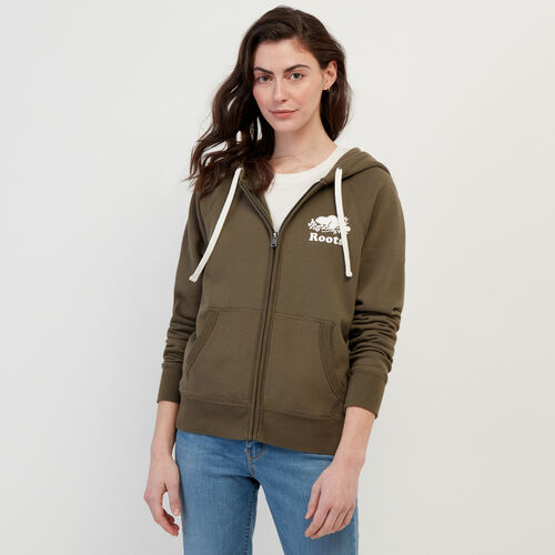 Roots-Women Bestsellers-Original Full Zip Hoody-Fatigue-A