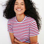 Roots-New For January Women-Aster Stripe Top-Racing Red-E