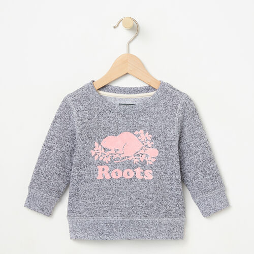 Roots-Kids Bestsellers-Baby Original Sweatshirt-Salt & Pepper-A