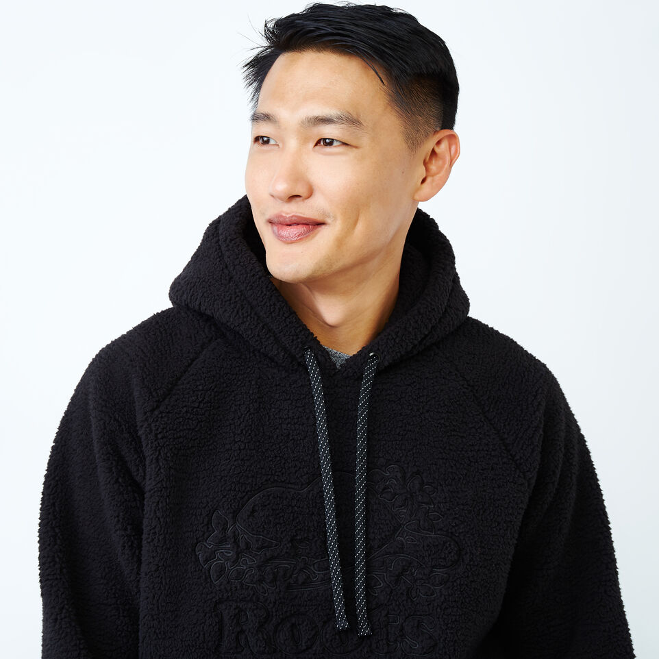 Roots-Men New Arrivals-Roots Sherpa Hoody-Black-E