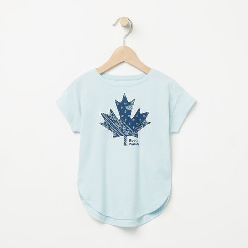 Roots-Kids Tops-Toddler Maple Top-Chambray Blue-A