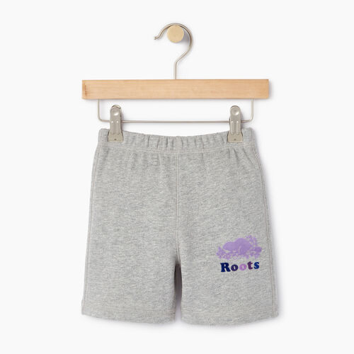 Roots-Kids Toddler Girls-Toddler Original Roots Short-Grey Mix-A