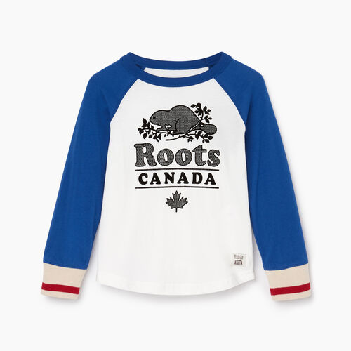 Roots-Kids T-shirts-Toddler Cabin Baseball T-shirt-Active Blue-A