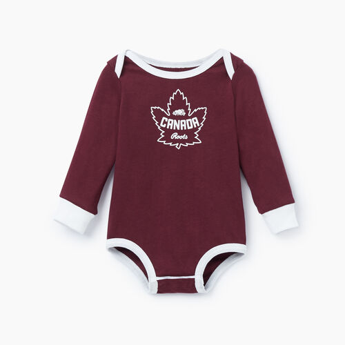 Roots-Kids Our Favourite New Arrivals-Baby Canada Bodysuit-Northern Red-A
