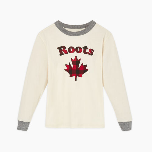 Roots-New For November Kids-Boys Maple Sleep Top-Birch White-A