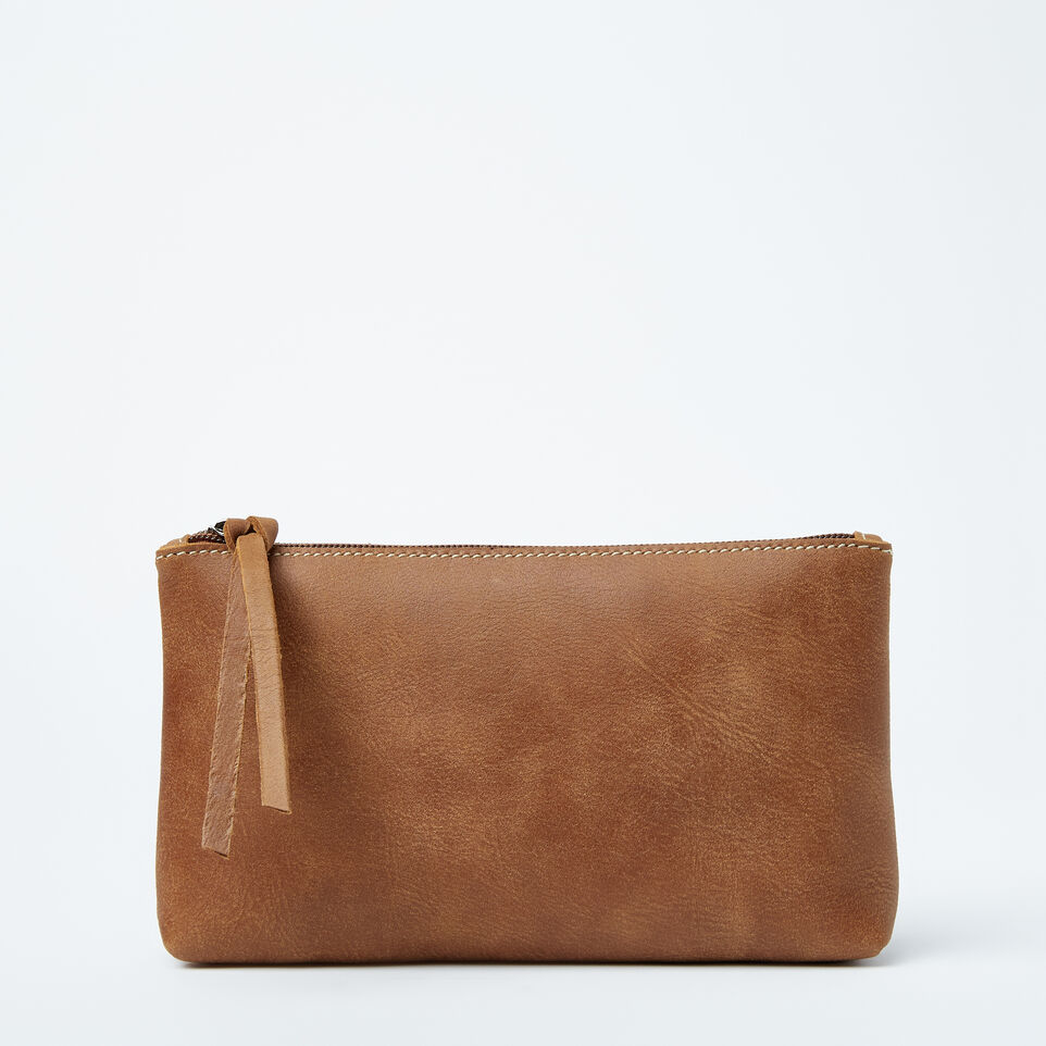 Roots-Large Zip Pouch Tribe