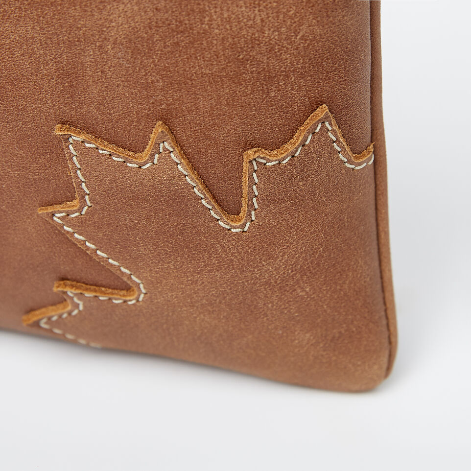 6180e59c0bd Trans Canada Hanging Pouch Tribe. Roots-Leather Mini Leather Handbags-Trans Canada  Hanging Pouch Tribe-Natural-A ...