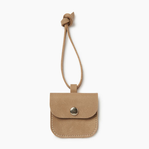 Roots-Women Leather Accessories-Leather Tie Pouch-Sand-A
