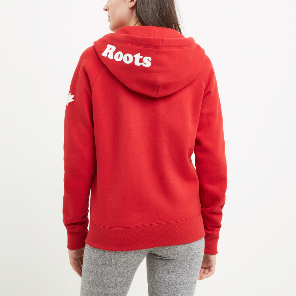 Roots-undefined-Womens Cooper Canada Full Zip Hoody-undefined-D