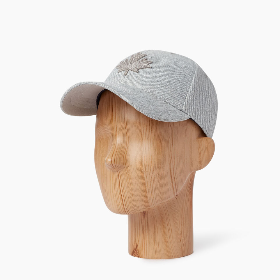 Roots-Men Our Favourite New Arrivals-Modern Leaf Baseball Cap-Grey Mix-B