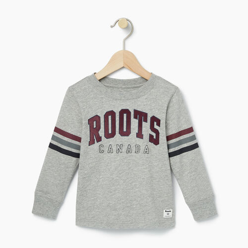 Roots-Kids T-shirts-Toddler Arch Roots Top-Grey Mix-A