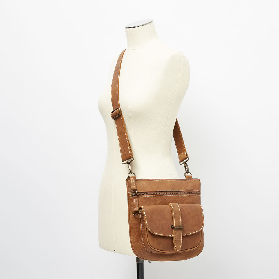 Roots-Leather Handbags-Side Saddle Tribe-Natural-B