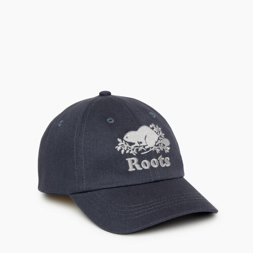 Roots-Kids Accessories-Kids Cooper Baseball Cap-Graphite-A