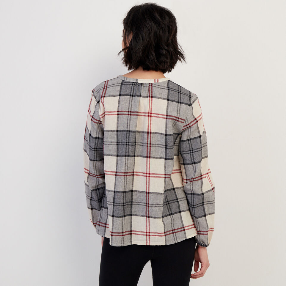 Roots-undefined-Smoke Lake Plaid Peasant Top-undefined-D