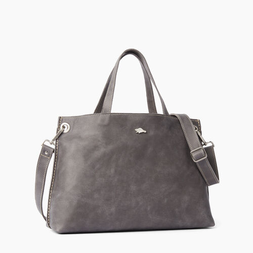 Roots-Women Bags-Edie Tote Tribe-Charcoal-A