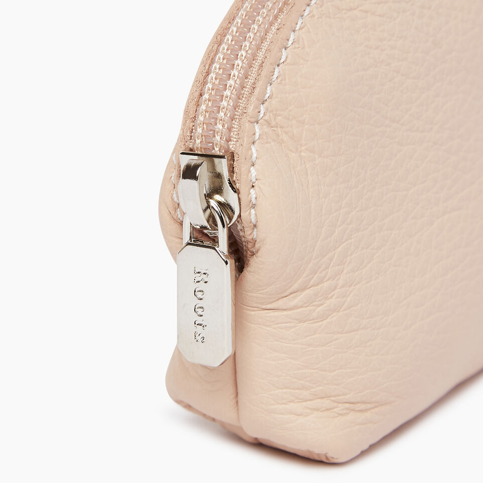 Roots-Leather Our Favourite New Arrivals-Small Euro Pouch-Pink Mist-C