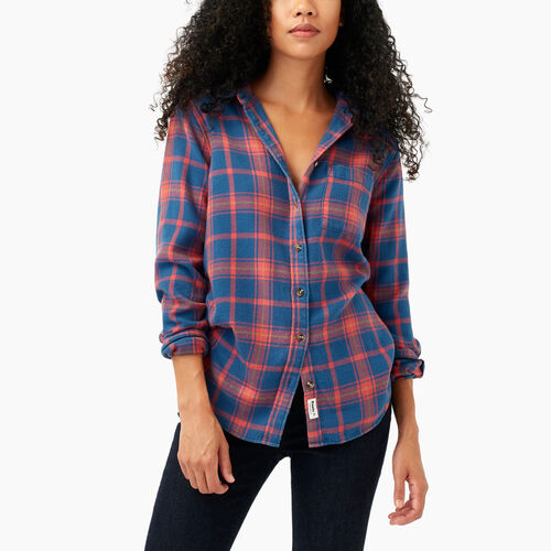 Roots-Winter Sale Women-Varley Plaid Shirt-Spiced Coral-A
