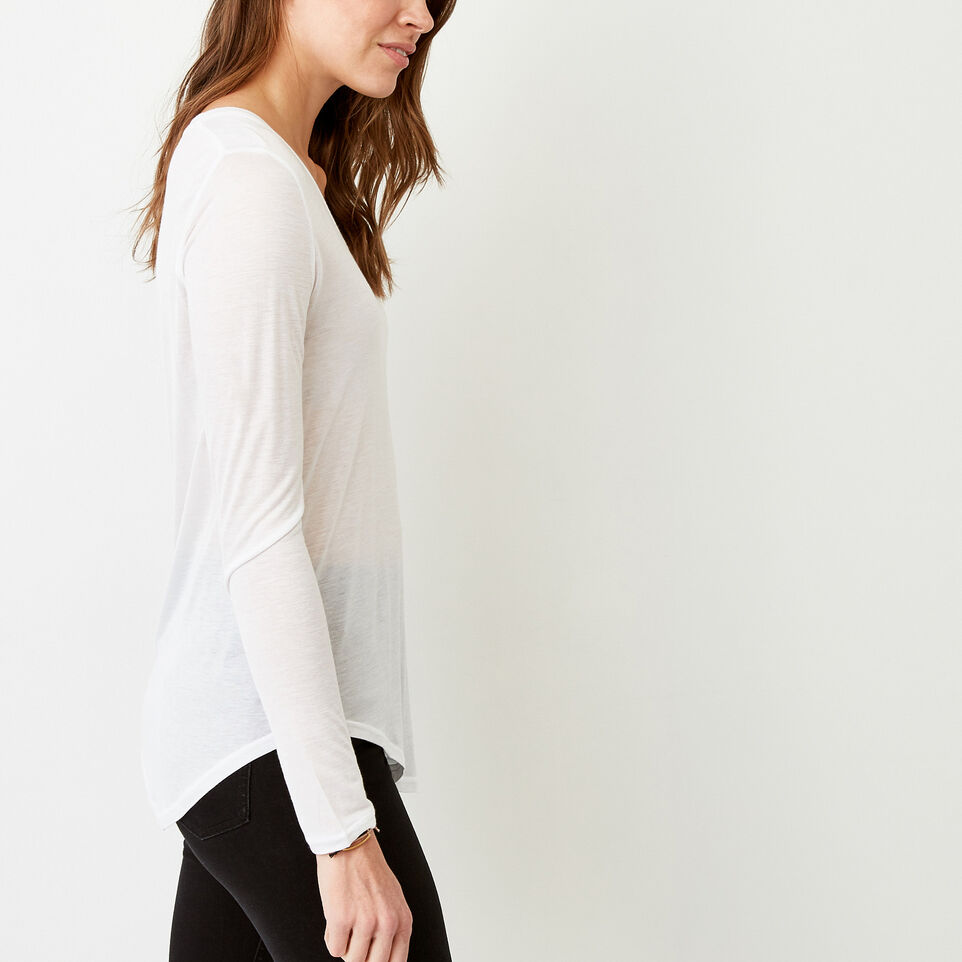 Roots-Women Categories-Sidney Top-White-C
