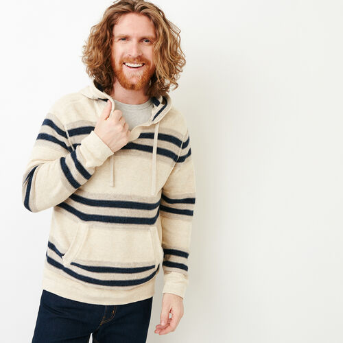 Roots-Men Sweaters & Cardigans-Baja Sweater Hoody-Sargasso Sea Mix-A