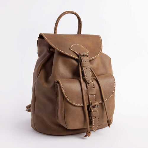 Roots-Leather  Handcrafted By Us Backpacks-Papa Alex Tribe-Natural-A