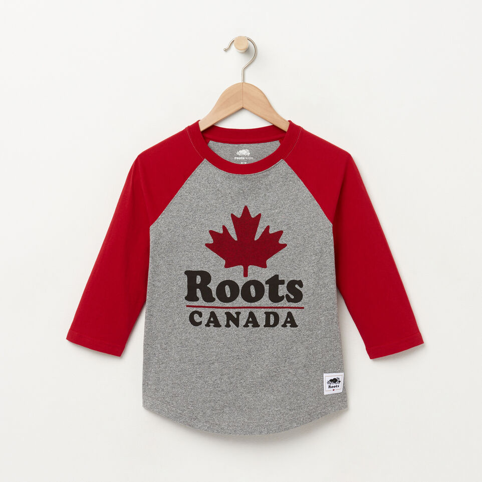 Roots-Boys Canada Ringer Raglan Top