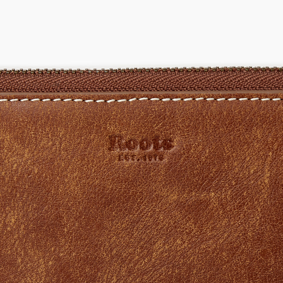 Roots-Leather Our Favourite New Arrivals-Zip Around Clutch Tribe-Natural-C