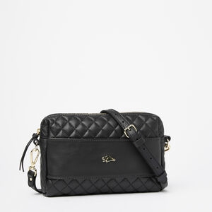 Roots-Leather Bestsellers-Quilted Clutch Nappa/Box-Black-A
