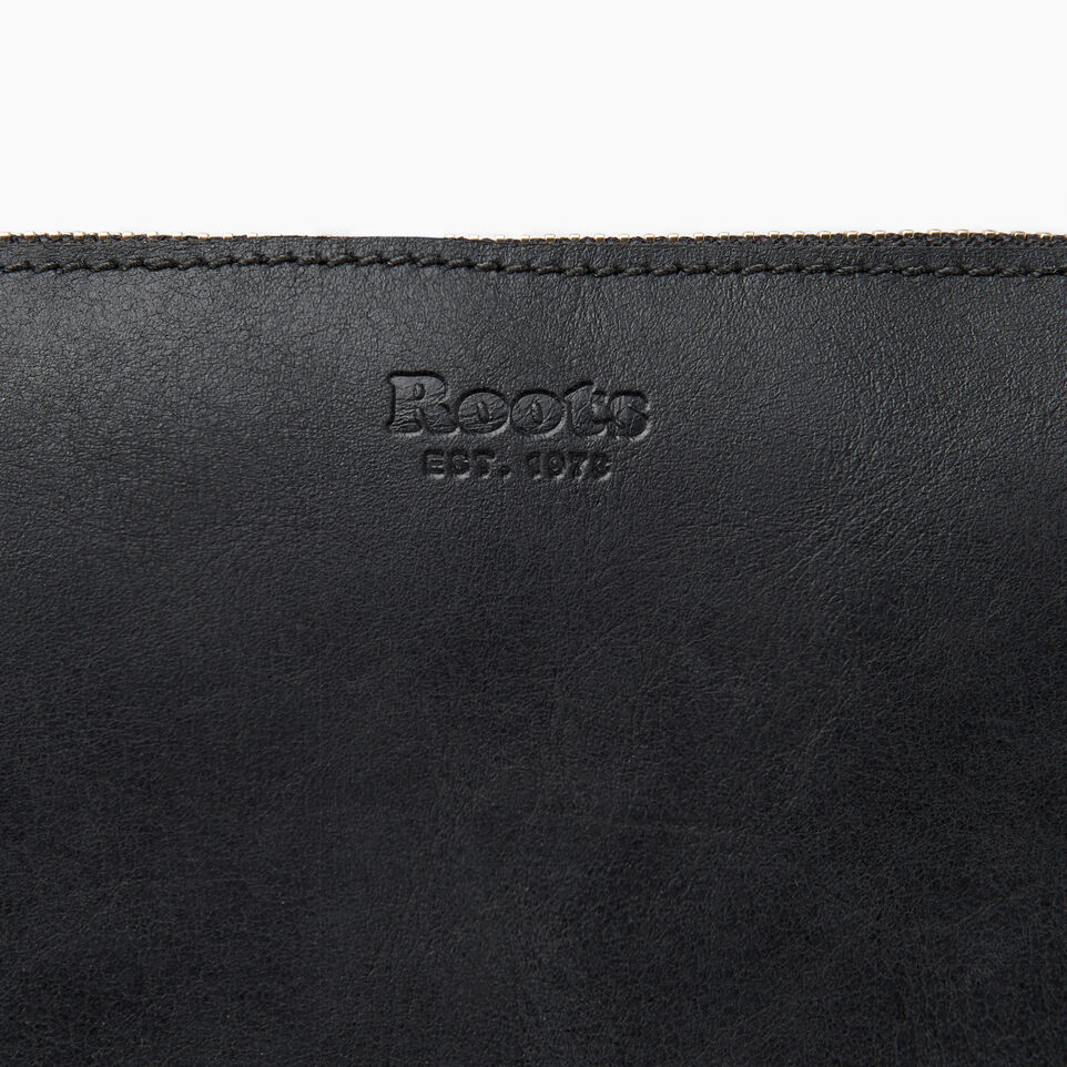 Roots-Leather New Arrivals-Journey Crossbody Tribe-Jet Black-E