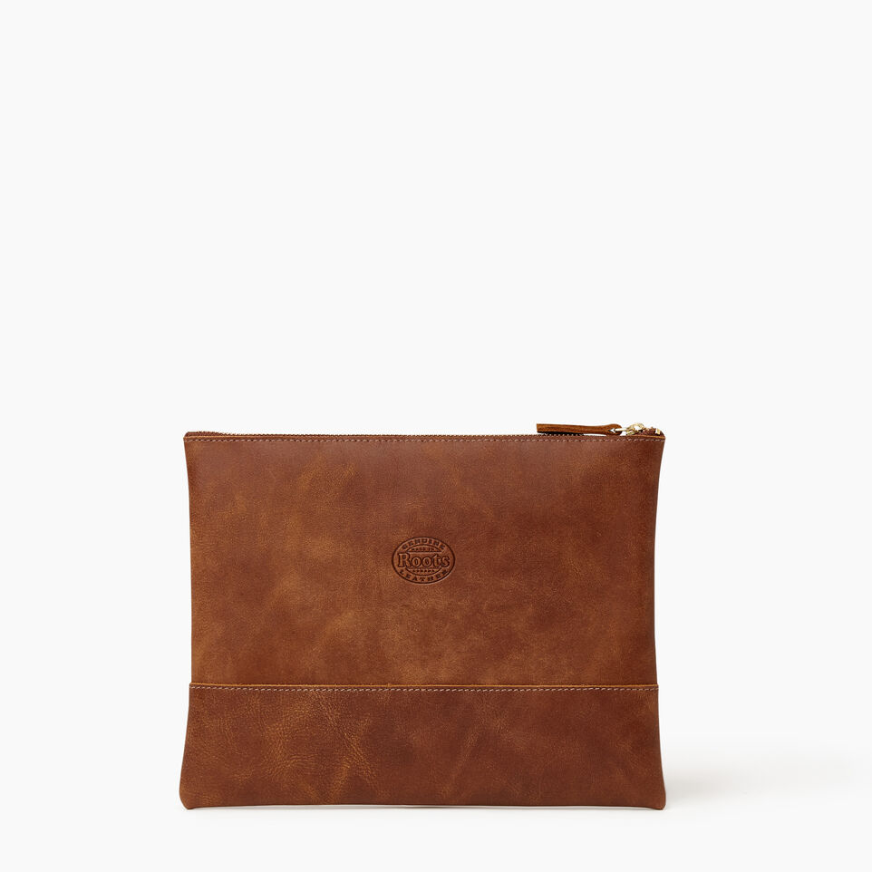 Roots-Leather Our Favourite New Arrivals-Junction Pouch-Natural-B