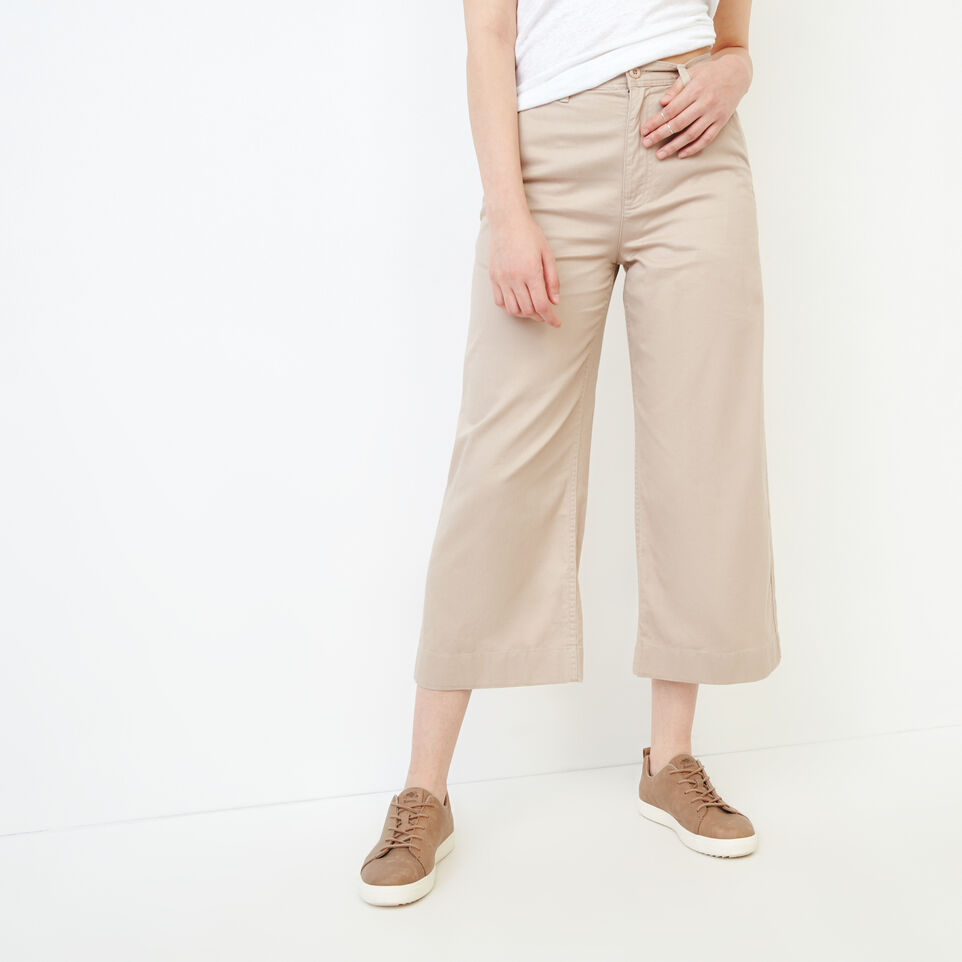 Roots-Women Our Favourite New Arrivals-Widewater Pant-True Khaki-A