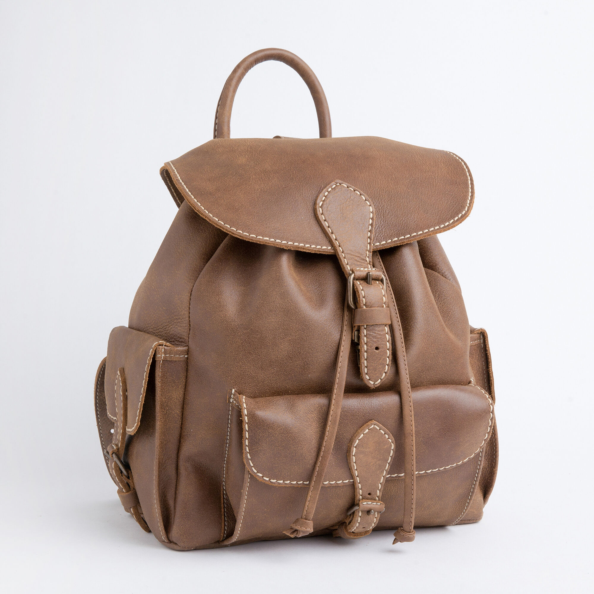 Roots Leather Backpack | Cg Backpacks