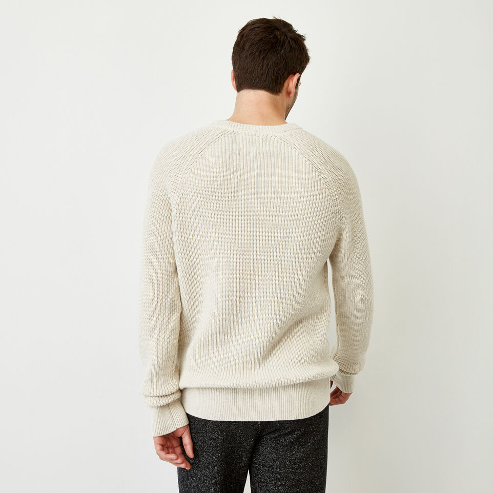 Roots-Men Our Favourite New Arrivals-Baffin Fishermans Sweater-Oatmeal Mix-D