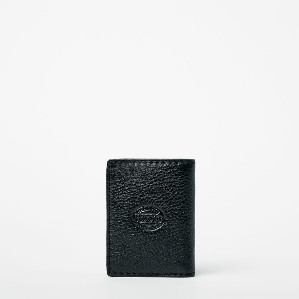 Roots-Men Wallets-Card Case With Id-Black-C