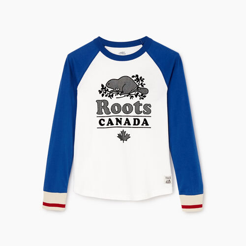 Roots-Kids Our Favourite New Arrivals-Boys Cabin Baseball T-shirt-Active Blue-A