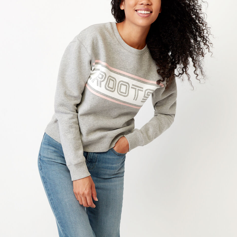 Roots-undefined-Ribbon Crew Sweatshirt-undefined-A