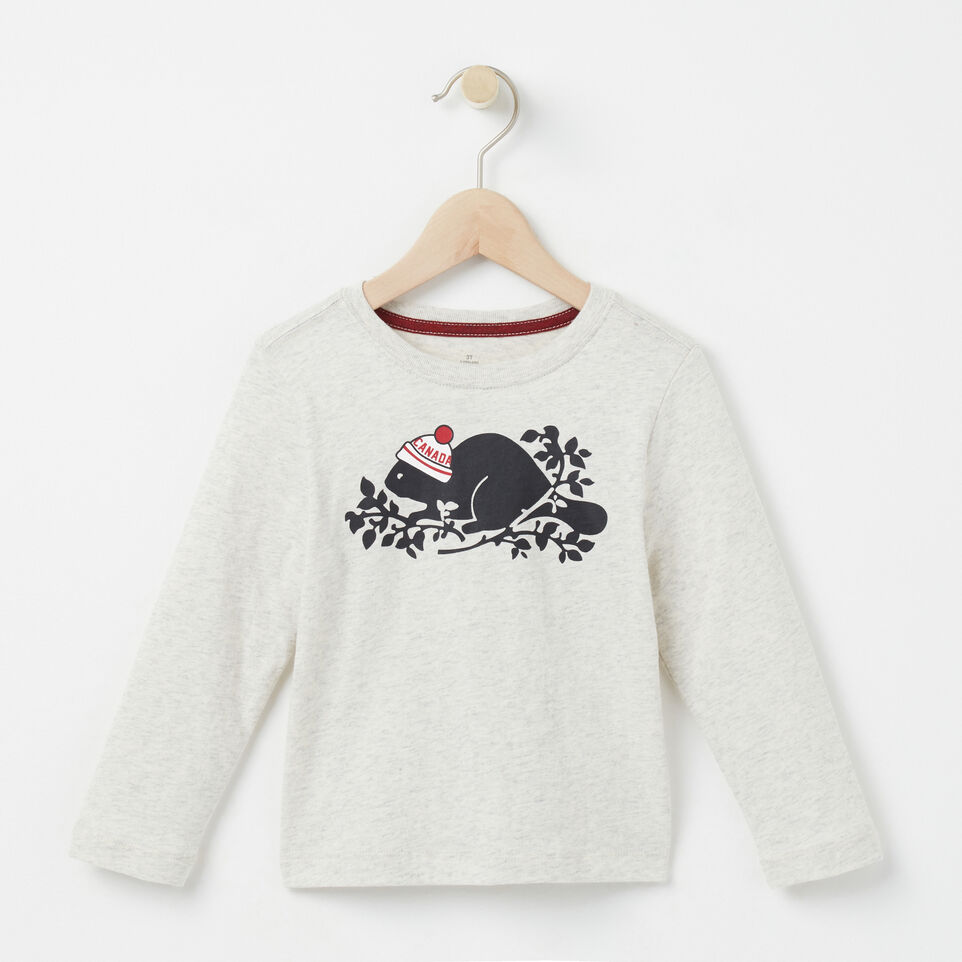 Roots-undefined-Toddler Pom Pom Beaver T-shirt-undefined-A