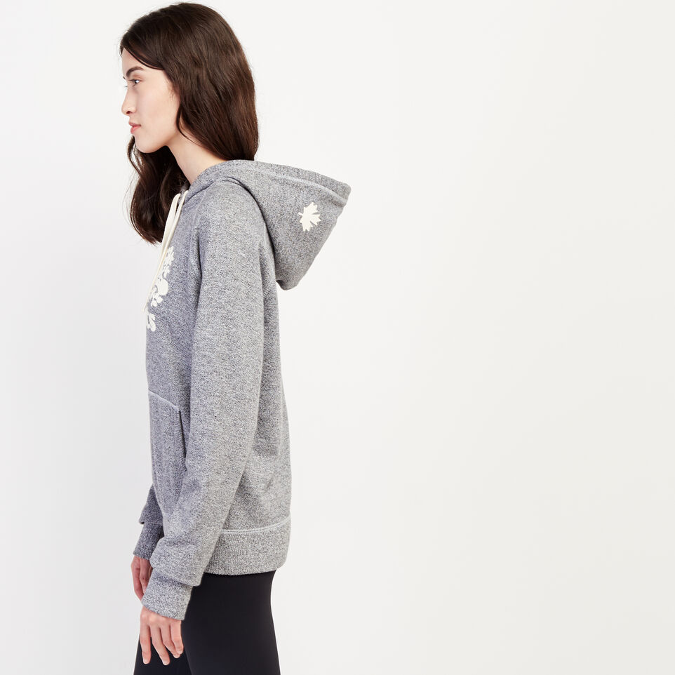 Roots-Women Clothing-Roots Salt and Pepper Original Kanga Hoody-Salt & Pepper-C