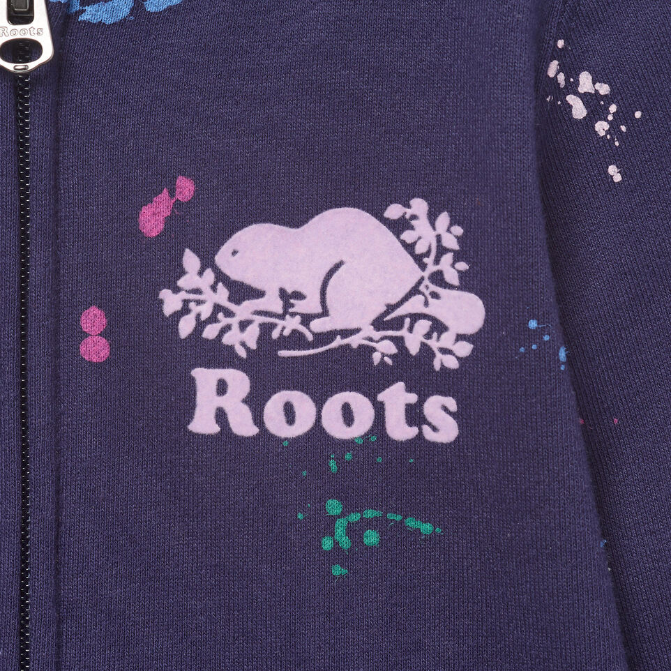 Roots-Kids Our Favourite New Arrivals-Toddler Splatter Full Zip Hoody-Eclipse-D