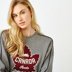 Roots-Women Canada Collection By Roots™-Womens Canada Crew Sweatshirt-Salt & Pepper-E