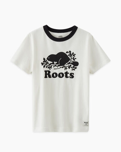Roots-Kids T-shirts-Kids Cooper Pop T-shirt-Black-A