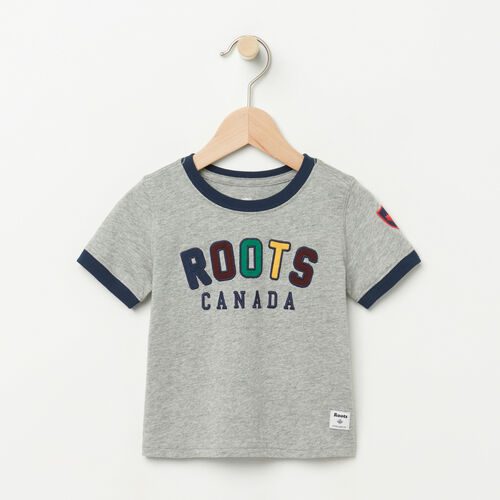 Roots-Kids Baby-Baby Sutton Ringer T-shirt-Grey Mix-A