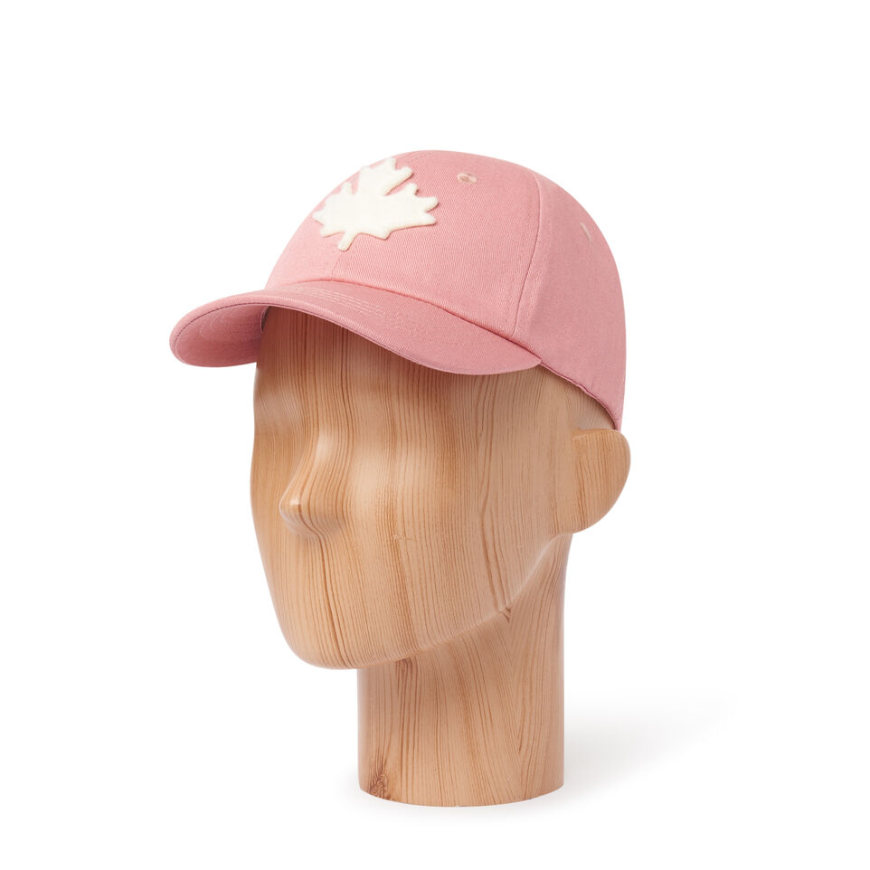Roots-Kids Our Favourite New Arrivals-Kids Canada Baseball Cap-Pink-B