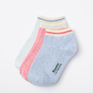 Roots-Kids Accessories-Kids Cabin Ped Sock 3 Pack-Lolite-A