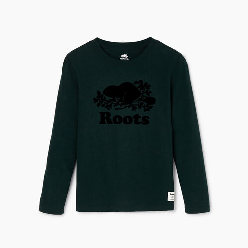 Roots-Kids Our Favourite New Arrivals-Boys Original Cooper Beaver T-shirt-Varsity Green-A