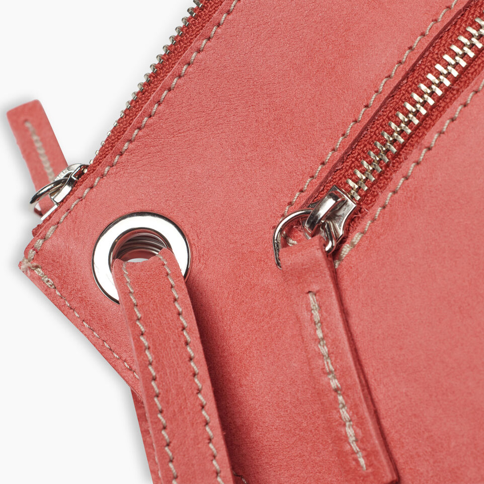 Roots-Leather New Arrivals-Festival Bag-Coral-F