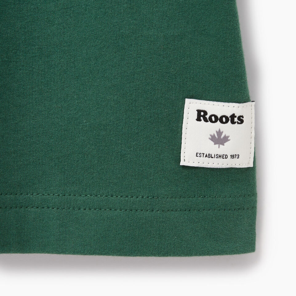 Roots-New For July Men-Mens Roots Outdoors T-shirt-Hunter Green-C